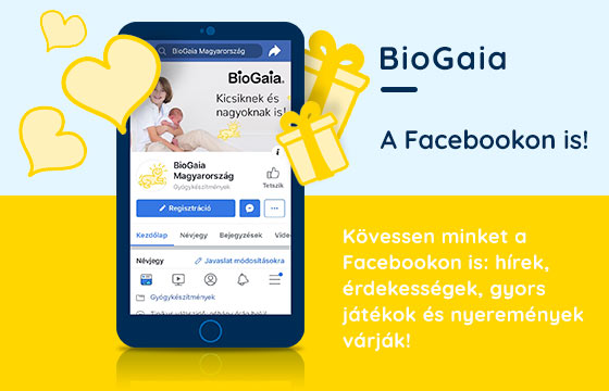 A BioGaia Facebook oldala